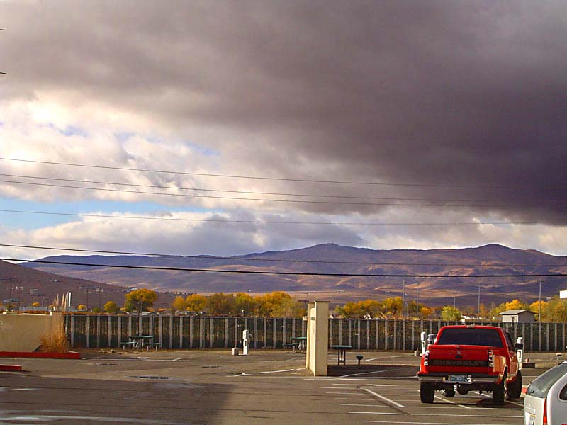 Forboding skies over Fernley